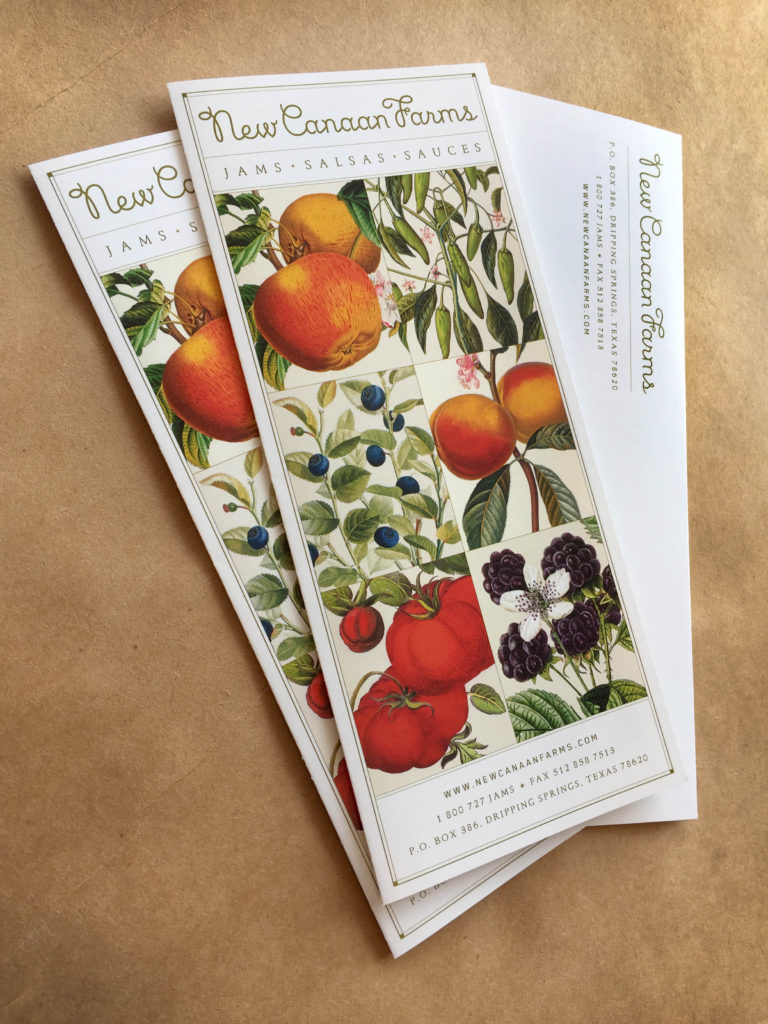 Brochures for our friends at New Canaan Farms