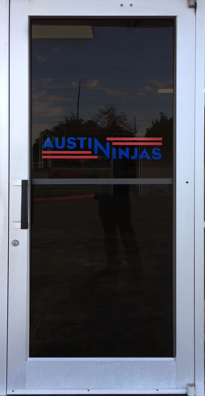We just installed these door graphics for Austin Ninjas does their logo look great or what? Contact us about pricing for contour cut vinyl we\u0027ll beautify ... & New Door Graphics for Austin Ninjas! \u2013 Global Printing in Austin