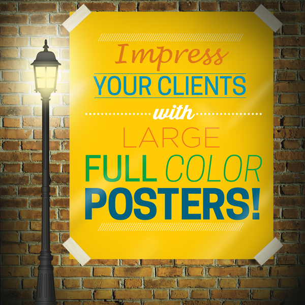 Large Custom Full Color Posters