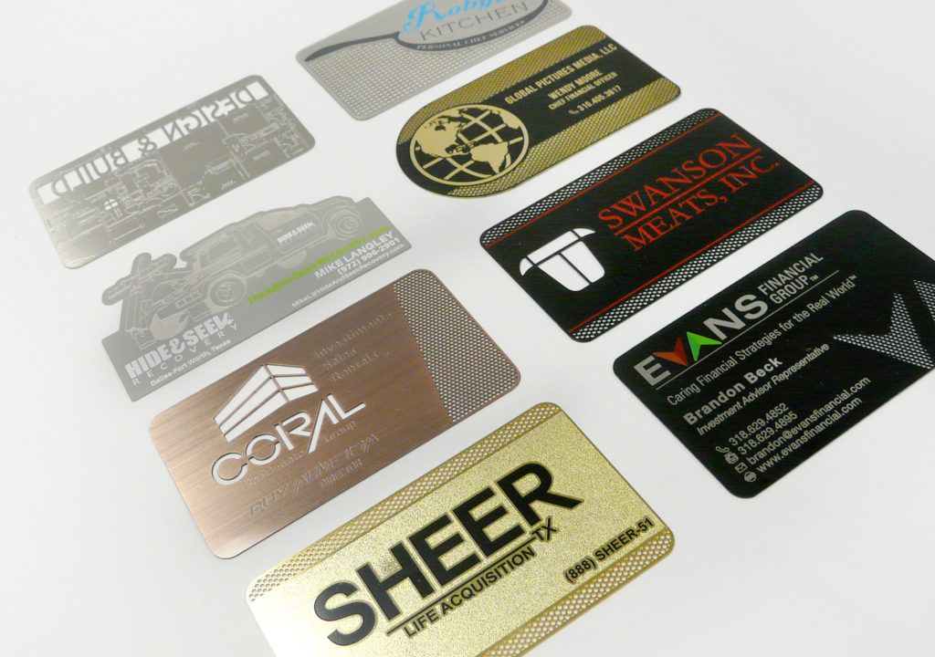 custom metal business card samples ideas inspiration