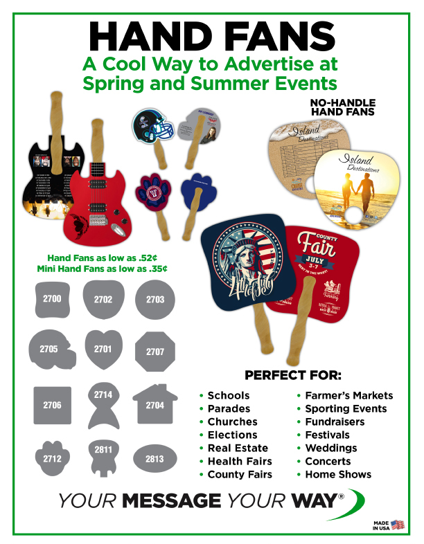 Custom Printed Hand Fans for Events