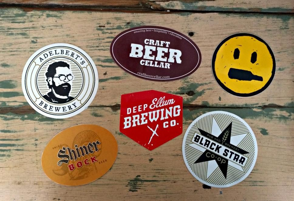 Texas Brewery Stickers
