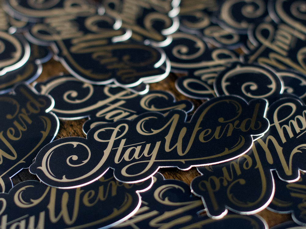 Stay Weird ATX Sticker Printing