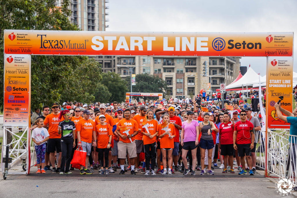 Charity Race Start Line Printed by Global Printing Solutions in Austin
