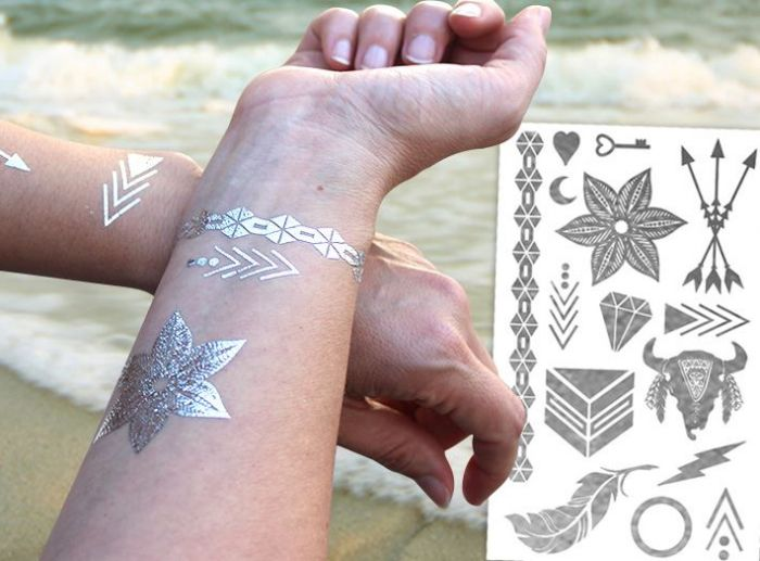 Custom Printed Metallic Tattoo Designs in Austin