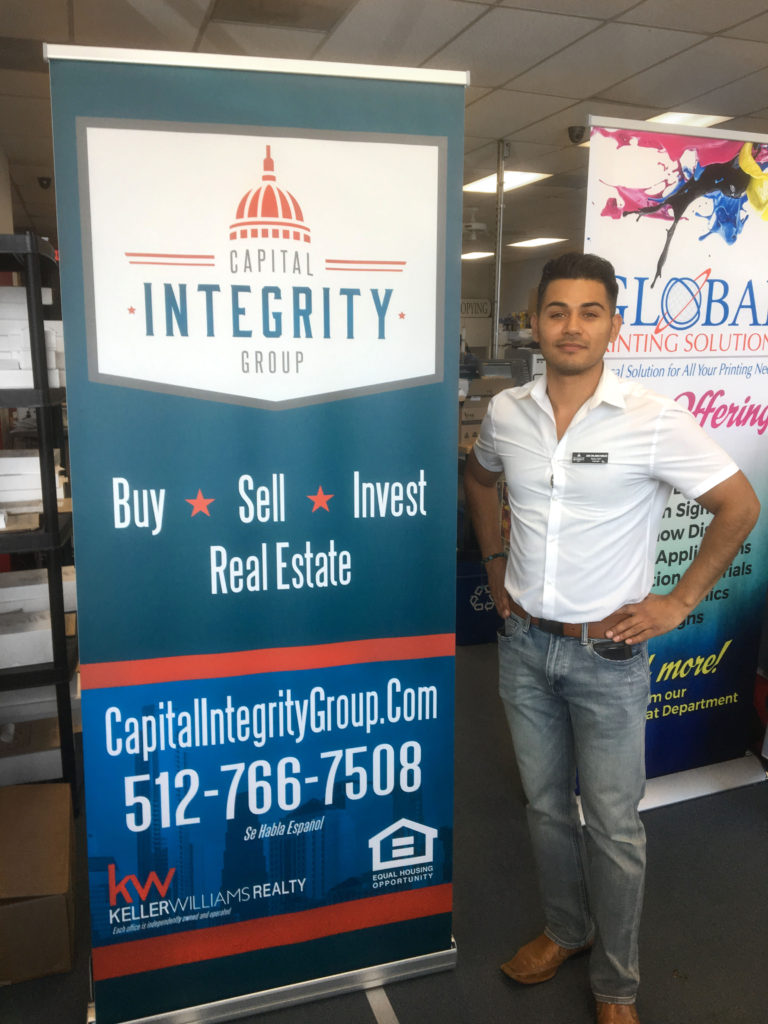 Custom Printed Pop Up Banner for Realtors