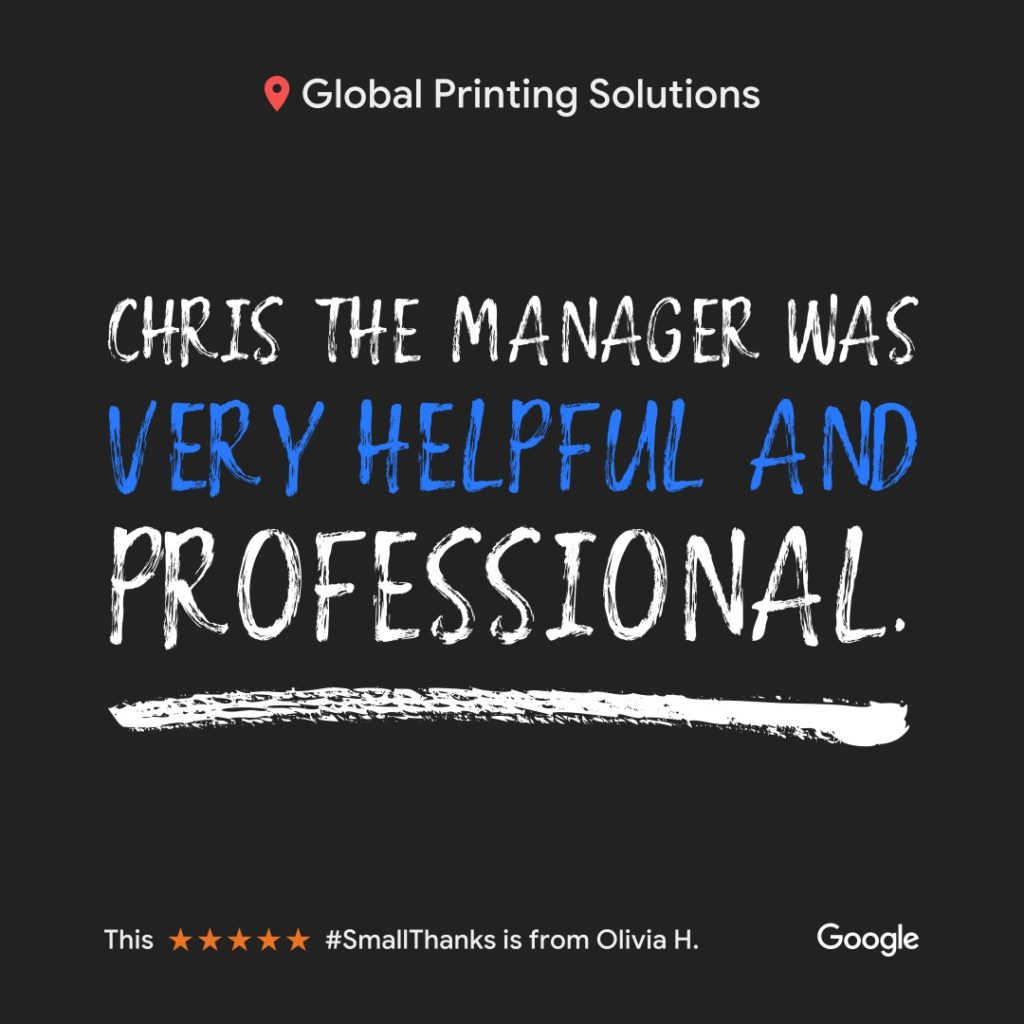 Great Reviews Shop Local Global Printing ATX