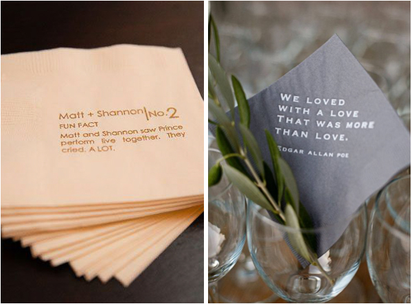 Custom Printed Wedding Napkins