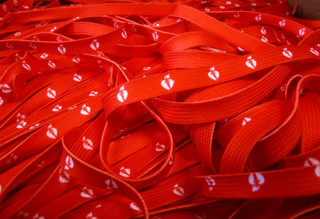 Custom Printed Shoelaces for American Heart Association