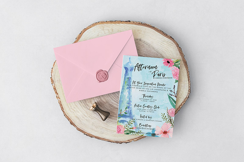Elegant Invitation Printing by Global Printing Solutions in Austin, Texas