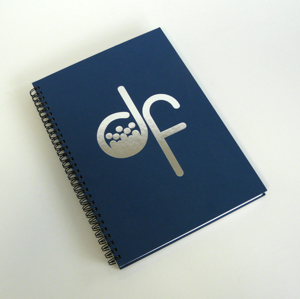Custom Printed Wire Bound Notebook with Metallic Foil