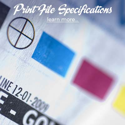 Print File Specifications Specs Help RGB CMYK Bleeds Resolution Standards Print Ready Advice Design