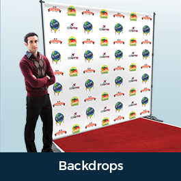 Custom Printed Backdrops Step and Repeats