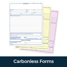 Carbonless Forms NCR Invoices Receipts Duplicate Triplicate
