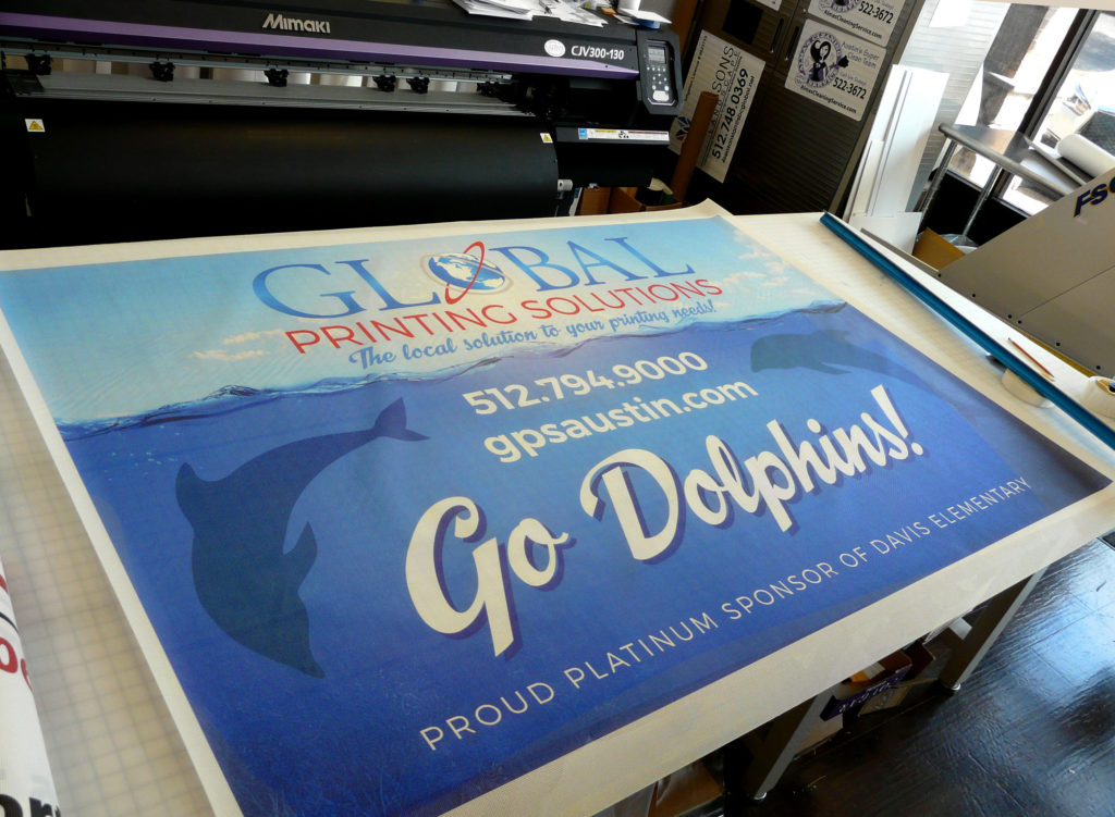 Custom Printed Vinyl Mesh Banner for Outdoor Display