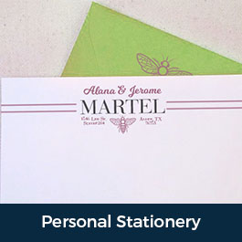 Personal Customized Stationery Envelope Writing Luxury Social Family