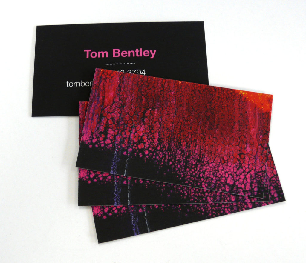 Custom Design Suede Business Card Printing for Artists